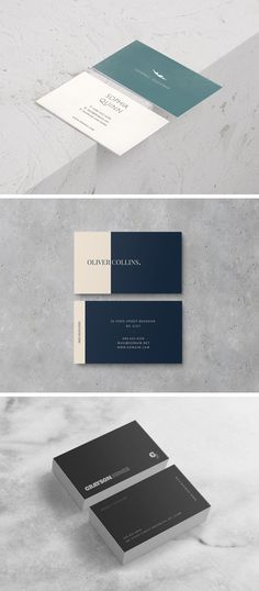 If you're in need of free Business Card Design Templates, then you're on the right way! Here are 3 sharp double-sided business card templates. Free Business Card Design, Business Cards Layout, Free Business Card Templates, Minimalist Business Cards, Elegant Business Cards, Business Card Mock Up, Creative Business, Typographie Logo, Double Sided Business Cards