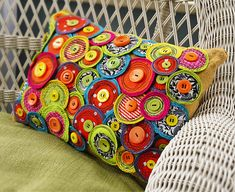 Make a fun, funky pillow for cheerful porch décor. Give any seat in your home a bold pop of color and style with this pinwheel pillow. DIY and save. Create