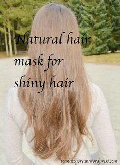 Natural hair mask for shiny hair