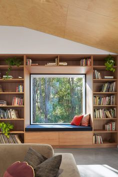 Compact pavilion house surrounded by dense Australian bushland models living rooms Hidden House, Hidden Rooms, Home Additions, Architecture Design, Pavilion Architecture, Chinese Architecture, Architecture Office, Futuristic Architecture, Sustainable Architecture