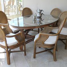 Harika bambu bahçe mobilyaları Dizaynları