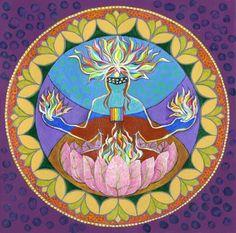 Lotus fire by Faith Nolton