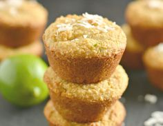 Zesty Paleo Coconut Lime Muffins are a healthy, low-carb treat. Lightly sweetened, thick, and creamy, these muffins are perfect for breakfast! Anti Candida Recipes, Anti Candida Diet, Candida Cleanse, Candida Diet Recipes Snacks, Cleanse Diet, Cleanse Recipes, Juice Cleanse, Yeast Cleanse, Paleo Dessert