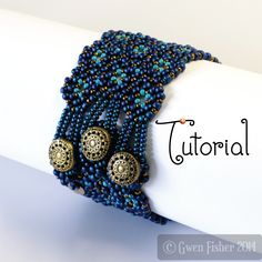 gwenbeads: TUTORIAL Lozenge Bracelet Beaded Angle Weave with ...