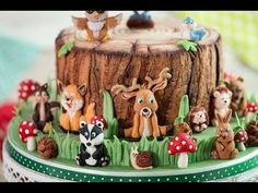 Karen Davies Sugarcraft Cake Decorating Moulds / Molds - Woodland Animals - Tutorial - Free - How To - YouTube