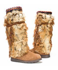 Another great find on #zulily! Dark Brown Faux Fur Leela Boot - Women #zulilyfinds