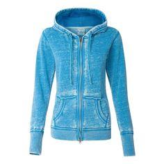J. America Women's Oceanberry Zen Fleece Full-Zip Hooded Sweatshirt