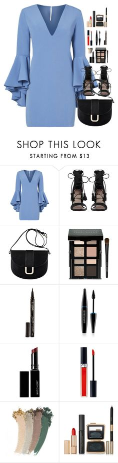 """""""Spring blue"""" by pandalover456 ❤ liked on Polyvore featuring Milly, Zimmermann, A.P.C., Bobbi Brown Cosmetics, Smith & Cult, MAKE UP FOR EVER, Witchery, Christian Dior, Gucci and Estée Lauder"""