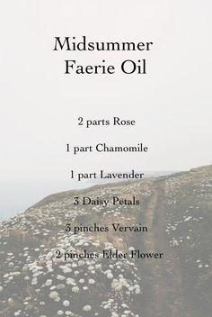 Midsummer Faerie Oil