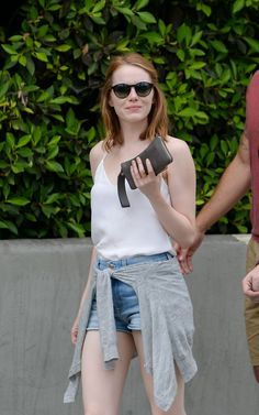 EMMA STONE Out and About in Los Angeles 09/12/2015