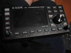 ESDR is a portable SDR transceiver with large color display, digimode decoder/keyer, 2x USB ports and micro-SD card.