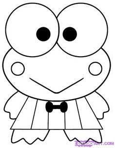 Cartoons Coloring Pages: Keroppi Coloring Pages