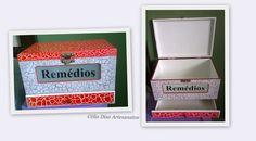 Caixa para remédios em MDF 30x20cm