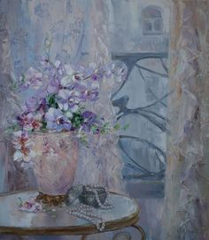 Orchids by Russian artist, Oksana Kravchenko (1971) Russia, Novouralsk