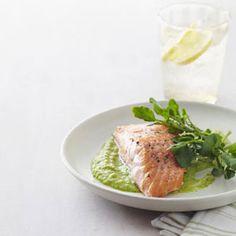 Salmon with Pea Puree Recipe - Good Housekeeping