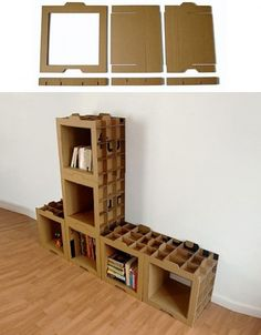 cardboard bookcases
