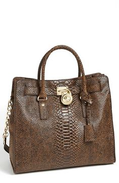MICHAEL Michael Kors 'Hamilton – North/South' Snake Embossed Leather Tote available at #Nordstrom