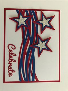 Independence day card, graduation cards handmade, military cards, cricut ca Graduation Cards Handmade, Greeting Cards Handmade, Independence Day Card, Military Cards, Star Cards, Cricut Cards, Bird Cards, Stamping Up Cards, Happy Birthday Cards