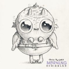 Looks like somebody got their training wings. #morningscribbles