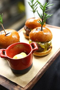 Sliders at Gordon Ramsay Pub & Grill.