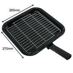 Spares2go Small Square Grill Pan Rack  Detachable Handle For Fagor Oven Cookers *** To view further for this item, visit the image link.