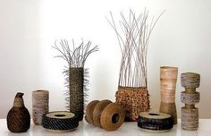 A tribute to Virginia Kaiser, Australian basketmaker who pioneered the use native plant materials via Random Weaving Bear Gallery, Fine Art Gallery, Weaving Art, Weaving Patterns, Willow Weaving, Basket Weaving, Making Baskets, Pine Needle Baskets, Basket Decoration