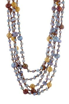 knotted freshwater pearl necklace #diy