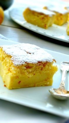 "Recipe for the fabulous ""Moelleux au Citron"" - # - Ensalada Marisco Ideas Thermomix Desserts, No Cook Desserts, Delicious Desserts, Yummy Food, Lemon Recipes, Sweet Recipes, Cake Recipes, Dessert Recipes, Food Cakes"