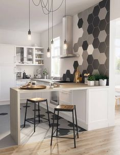 Prodigious Cool Tips: Narrow Kitchen Remodel Pantry Design kitchen remodel with island chip and joanna gaines.Kitchen Remodel Backsplash Ceilings old small kitchen remodel.Old Small Kitchen Remodel. Apartment Kitchen, Living Room Kitchen, Home Living, New Kitchen, Kitchen Decor, Kitchen Layout, Awesome Kitchen, Vintage Kitchen, 1970s Kitchen