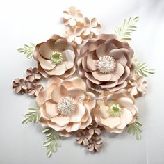 Paper flower super mini backdrop/Paper flower wall/Wedding