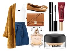 """""""School"""" by whimisical76 ❤ liked on Polyvore featuring Tory Burch, Forever 21, Chanel, Too Faced Cosmetics, Elie Saab and MAC Cosmetics"""
