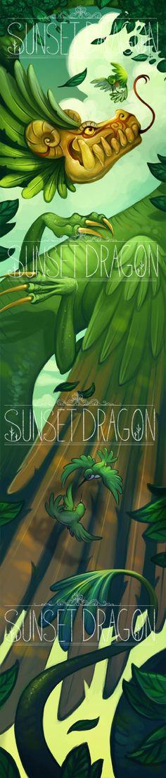 ♡ #AweSomEilluStrationS | Quetzalcoatl by Flying-Fox.deviantart.com on @DeviantArt