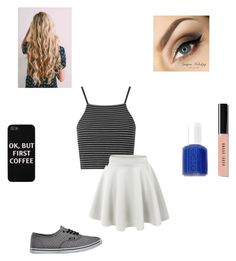 """""""My Brother"""" by wild-and-proud ❤ liked on Polyvore featuring Topshop, LE3NO, Vans, Bobbi Brown Cosmetics and Essie"""