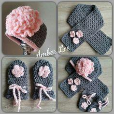 Crochet Baby Hat Patterns, Crochet Baby Clothes, Crochet Baby Hats, Crochet Scarves, Crochet For Kids, Crochet Shawl, Crochet Stitches, Baby Knitting, Knit Crochet