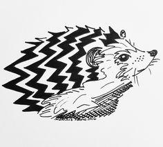 A geometric hedgehog in ink pen Pen, Sketches, Drawings, Painting, Illustration Art, Ink Drawing, Art, Geometric, Ink