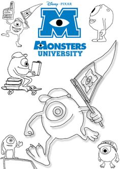 Spectacular Monsters Inc Coloring Book 51 Print free colouring sheets