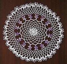 Free crochet doily pattern - flat pansy motif