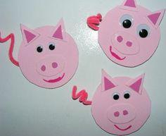 Ten kids and a Dog: Mrs Wishy-Washy and piggy crafts