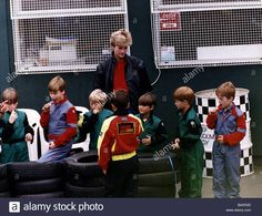 9th July 1992 Princess Diana at Buckmore Racing Circuit near Chatham Kent with her sons