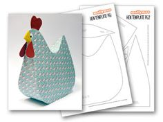 MollyMooCrafts MollyMoo Craft Printables - Papier Mache Hen