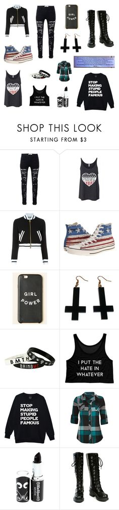 """""""Emo Summer/Fall"""" by ainsley-matthews on Polyvore featuring Moschino, Converse, Chicnova Fashion, Full Tilt and Nana'"""