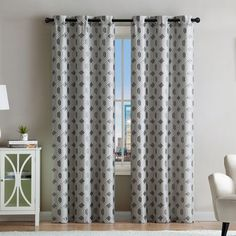 Found it at Wayfair - Rivage Geometric Blackout Grommet Curtain Panels
