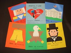 So cute for USA Presidents & Symbols unit! Kindergarten Social Studies, Kindergarten Crafts, Teaching Social Studies, Kindergarten Reading, Student Teaching, Kindergarten Classroom, Art Classroom, National Symbols Kindergarten, Teaching Ideas