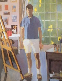 Fairfield Porter (American, 1907 - 1972), Self portrait in my studio, 1968, Oil on canvas.