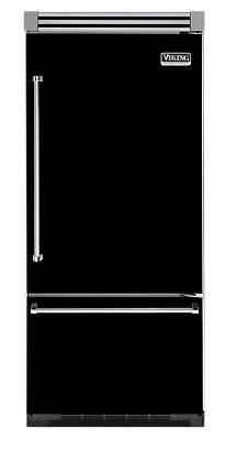 """36"""" BLACK Refrigerator/Freezer - Viking Range"""