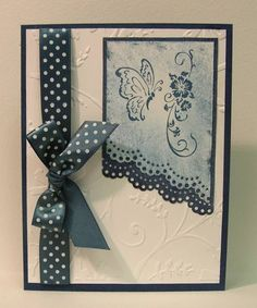 lace edge punch on diagonal for this border look!
