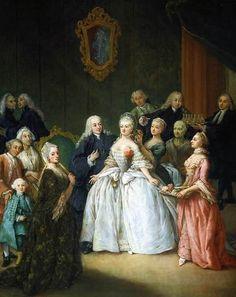 1750, Il Ricevimento Prima del Matrimonio, Pietro Longhi