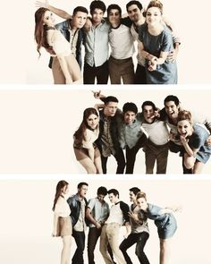 Cast of Teen Wolf; Holland Roden as Lydia Martin, Colton Haynes as Jackson, Tyler Posey as Scott McCall, Dylan O'Brien as Stiles Stilinski, Tyler Hoechlin as Derek Hale, Crystal Reed as Alison Argent.