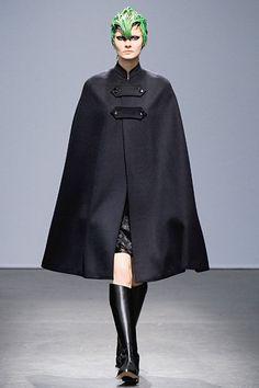 Lovely cape at #JunyaWatanabe.  #Paris #FashionWeek