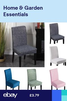 246pcs Dining Room Chair Covers Wedding Banquet Seat Cover Stretch Spandex UK